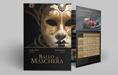 Identidade visual e design para evento Ballo in Maschera