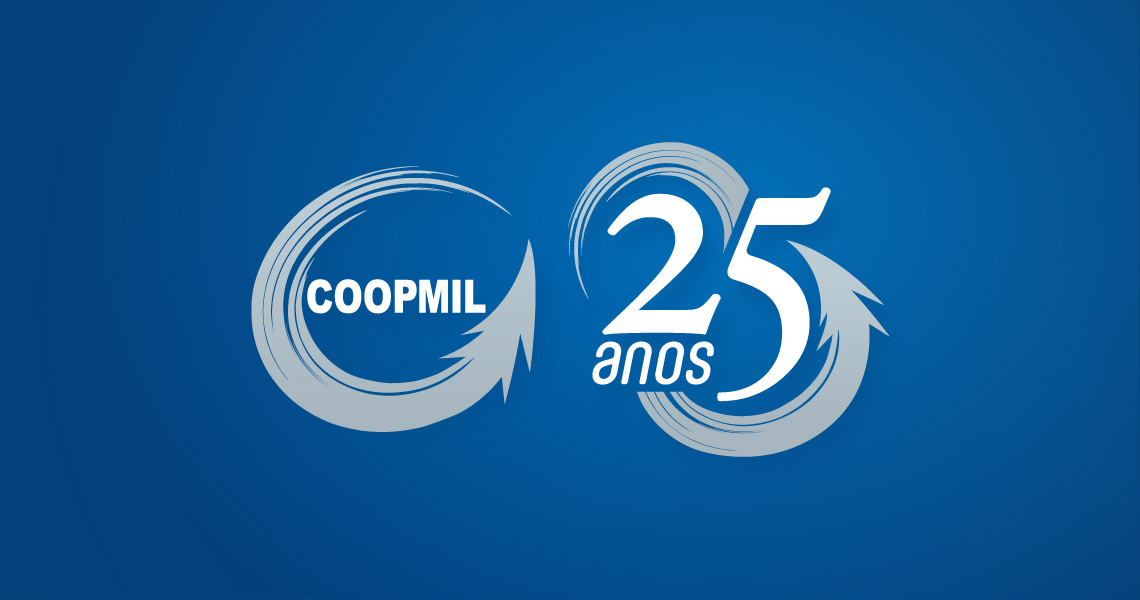 Logotipo Coopmil 25 anos